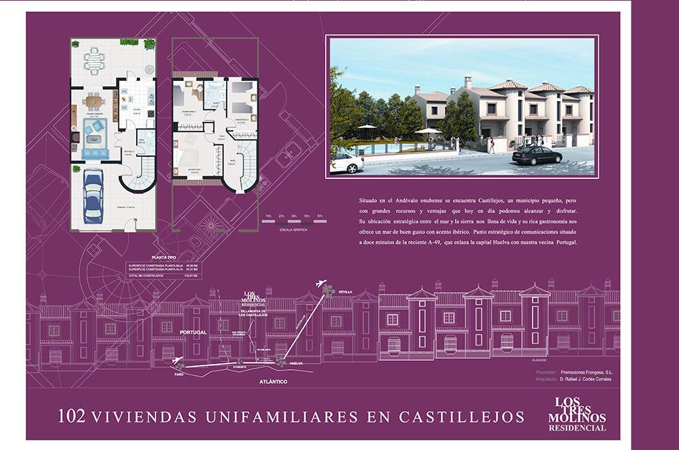 """Residencial """" Los Molinos"""". Villanueva de los Castillejos. Huelva"""